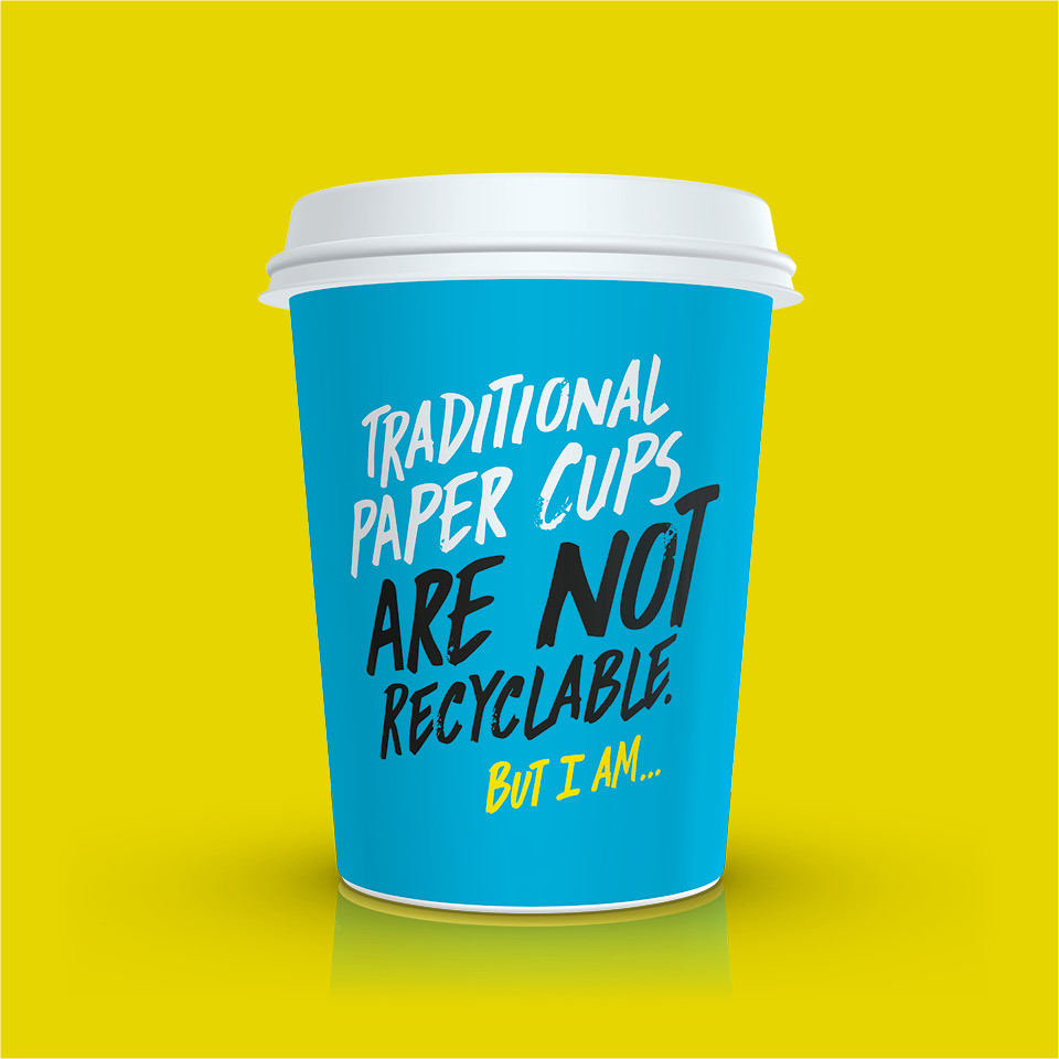 Detpak RecycleMe Traditionl Paper Cups Are Not Recyclable But I am