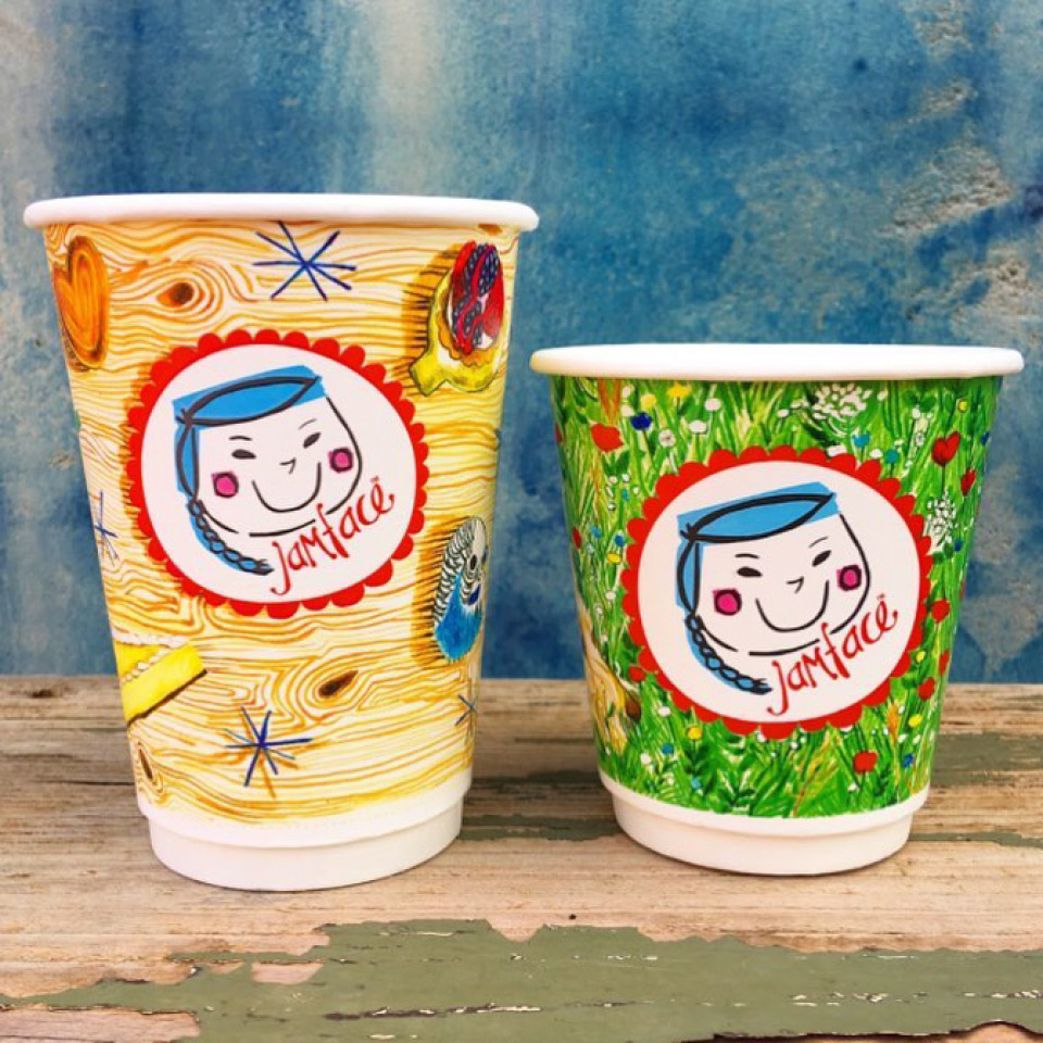 Jamface Poh Ling Yeow Colourful Hot Cups Digital Print