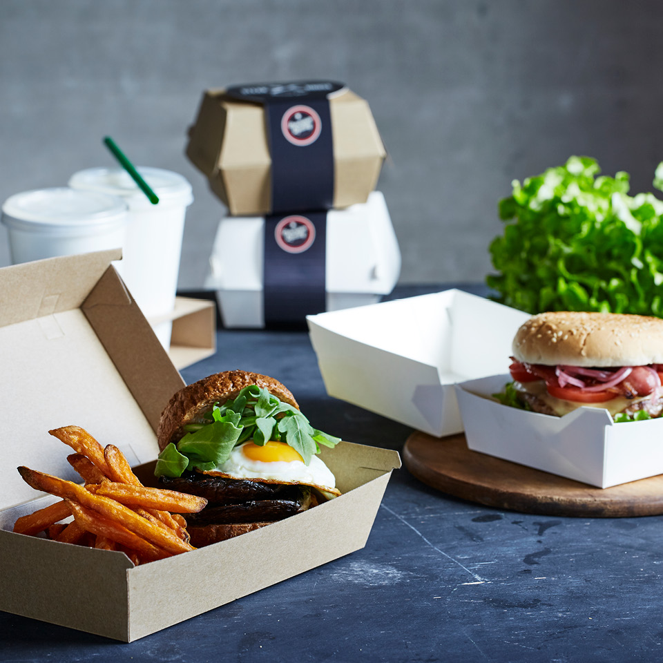 Detpak premium burger range endura food packaging and branding belt