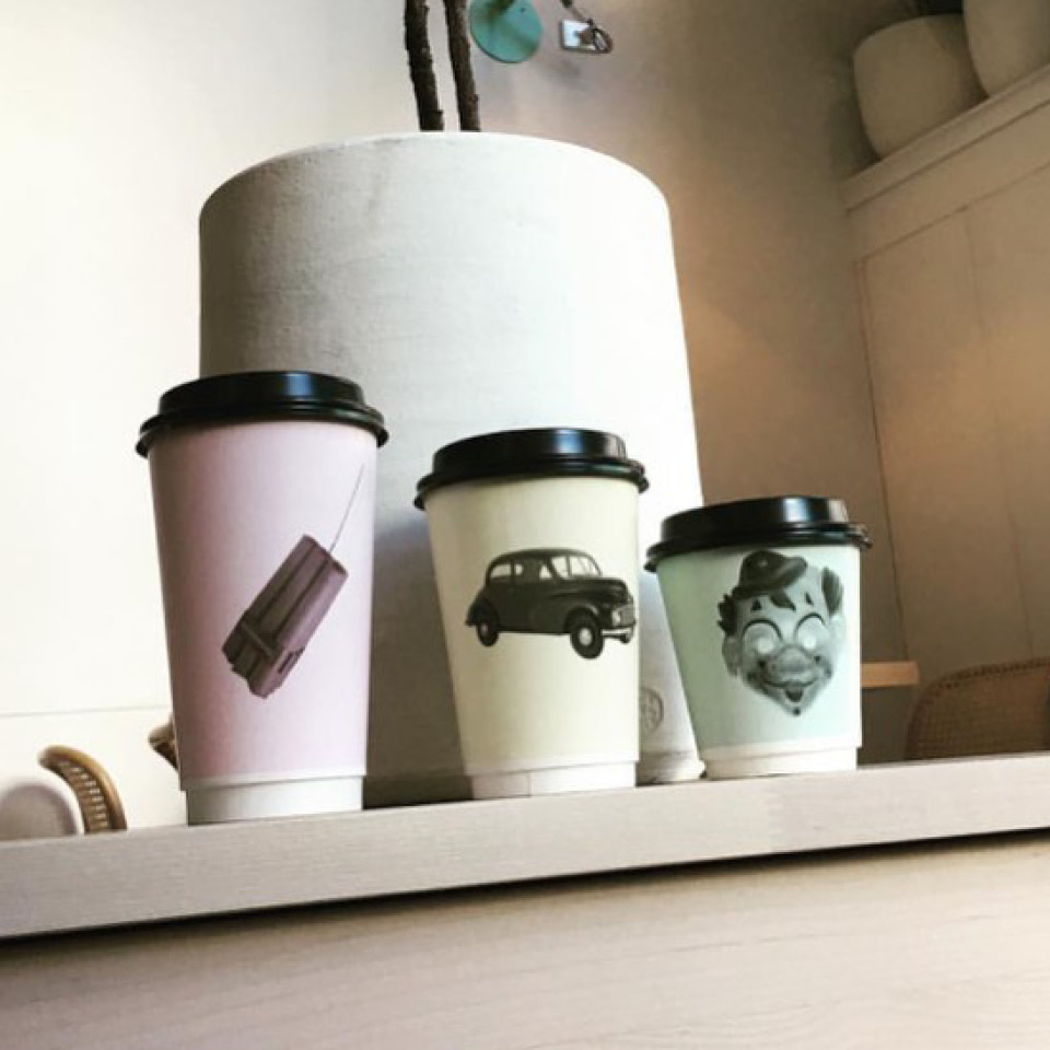 Crack Kitchen takeaway Detpak hot cups quirky design