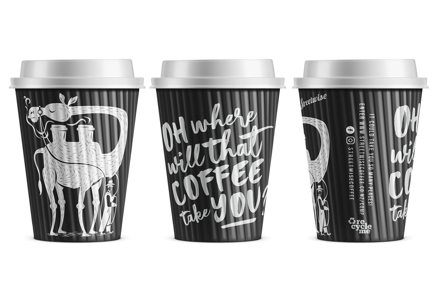 Image of RecycleMe Streetwise Coffee Cups
