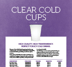 CLEAR COLD CUPS BROCHURE - AUS, NZ, INTERNATIONAL