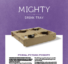 MIGHTY DRINK TRAY BROCHURE - INTERNATIONAL