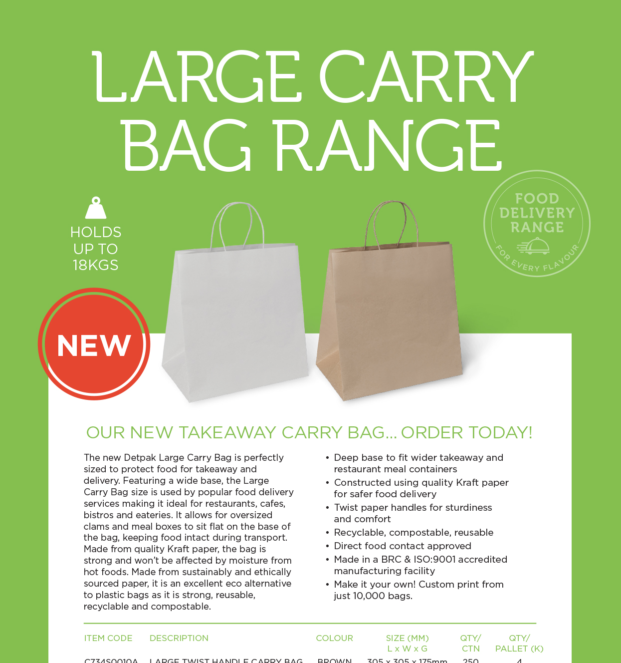 Large Carry Bag Brochure