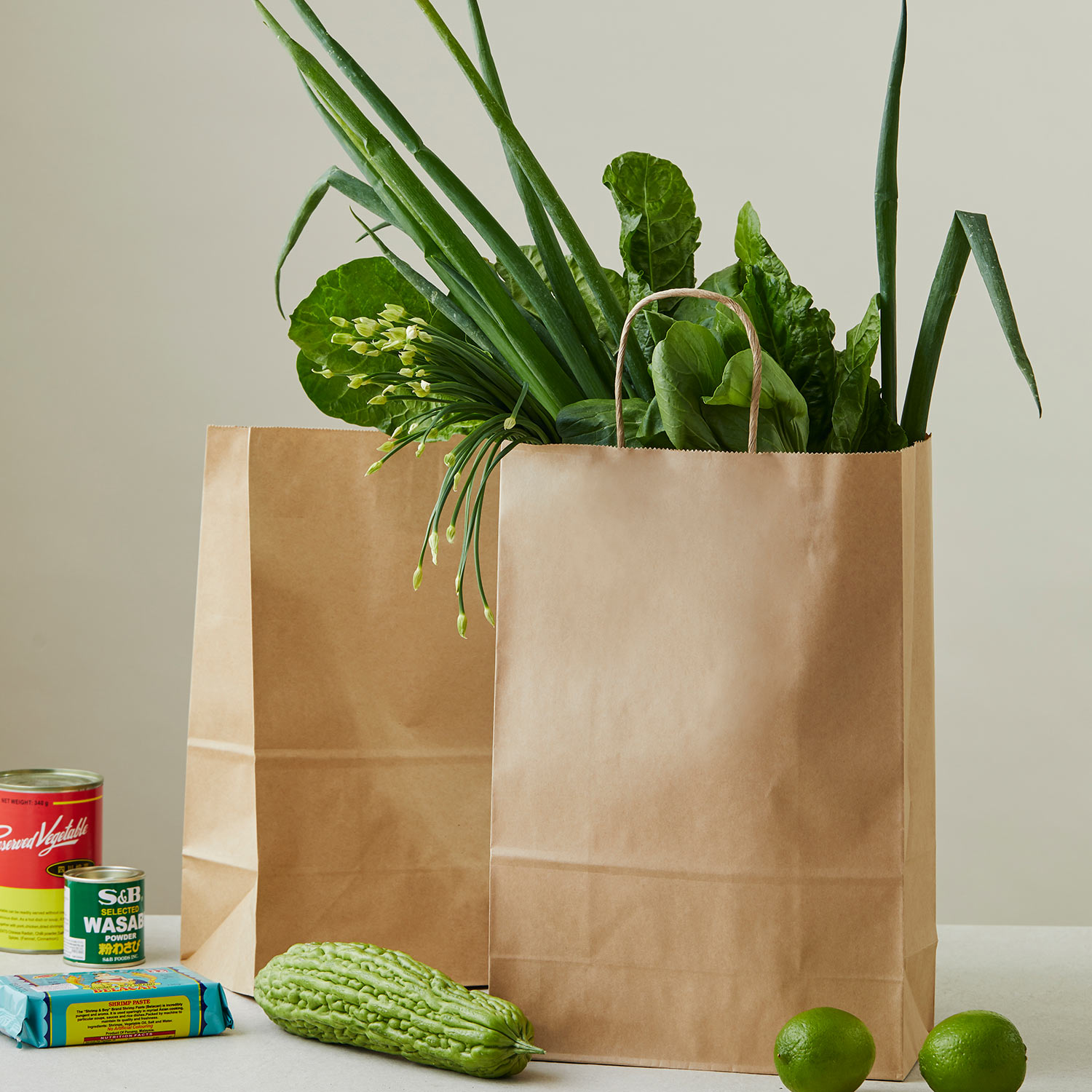 Image of paper bags used for groceries