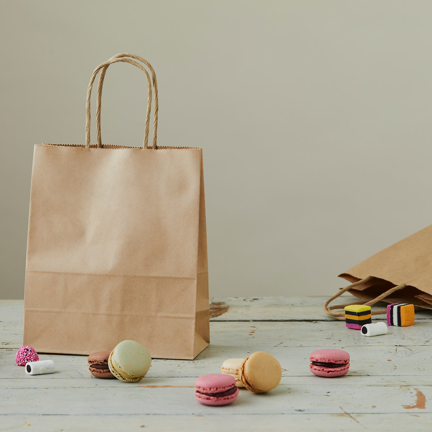 Image of paper bag used to carry sweet treats
