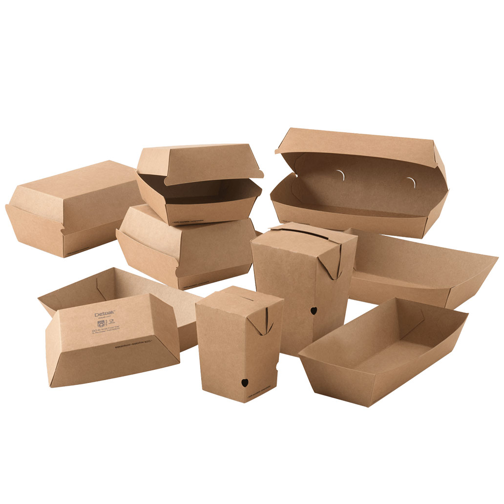 Image of Detpak's recyclable GO range