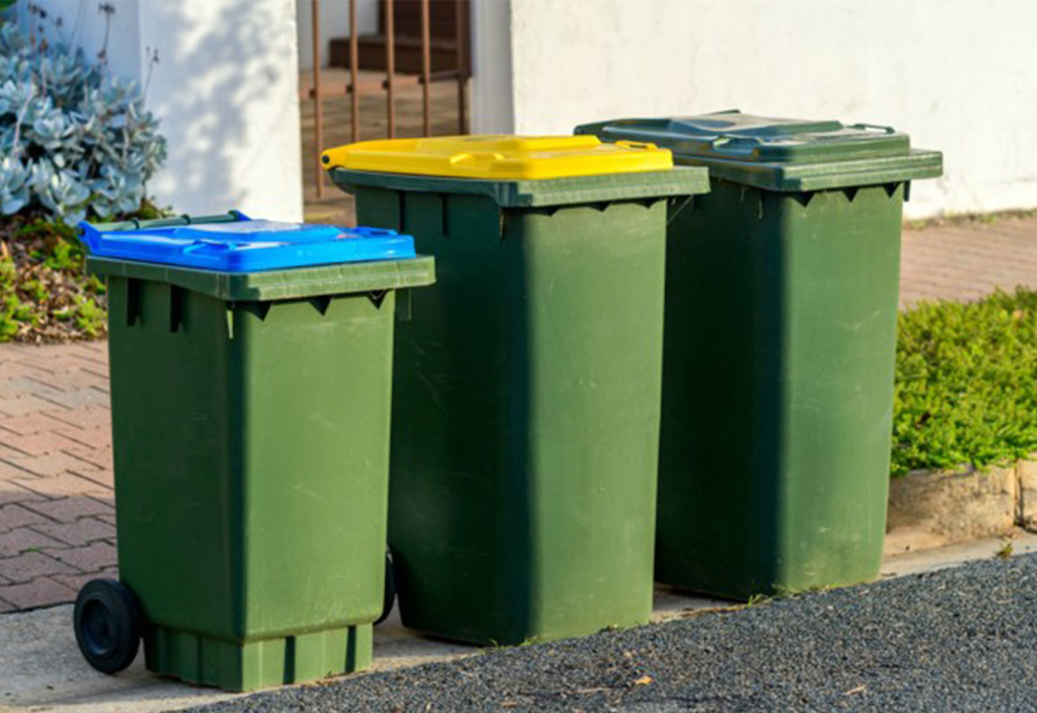 Image of kerbside collections bins