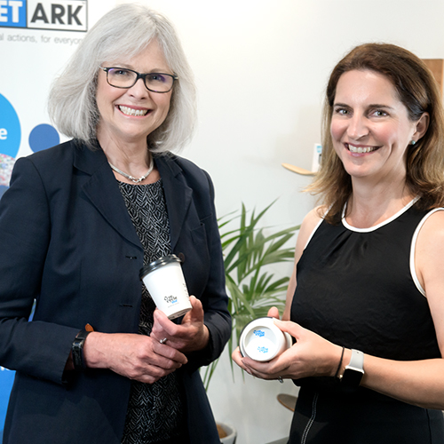 Image of Planet Ark deputy CEO Rebecca Gilling and Detpak Brand Manager Anna Falkiner