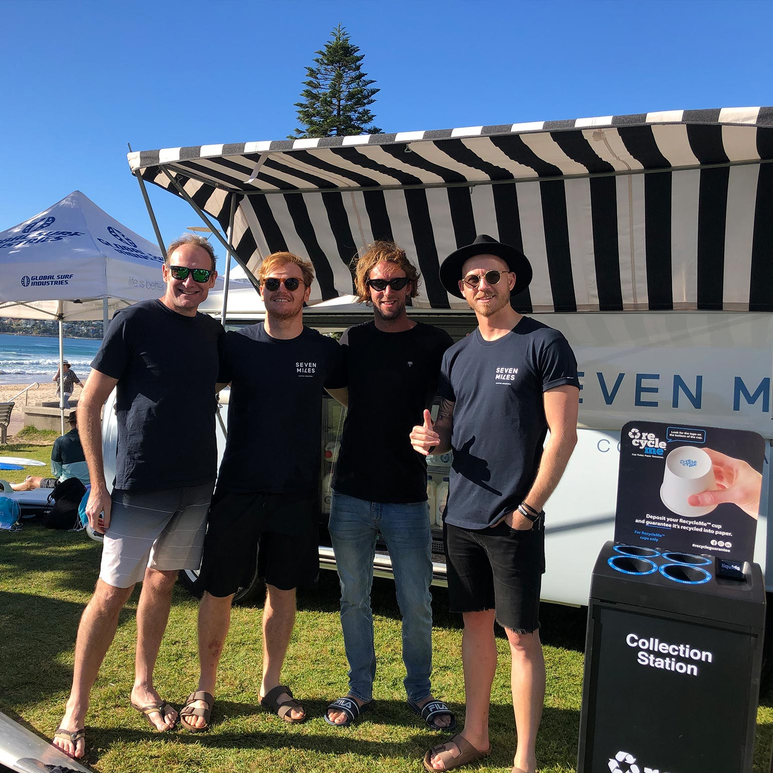 Image of Seven Miles staff supporting Surfaid event with RecycleMe™ cups