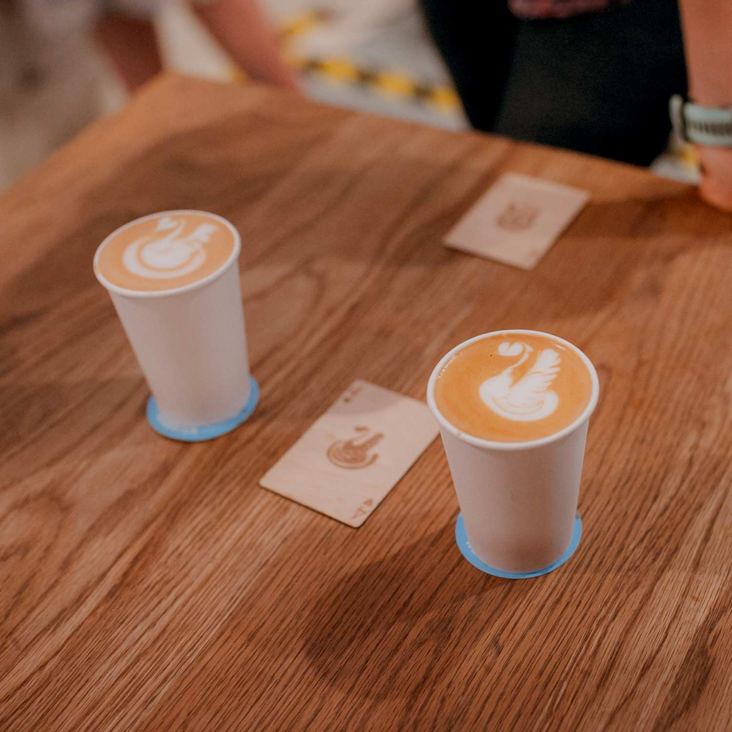 Image of latte art at the RecycleMe Detpak UK Smackdown