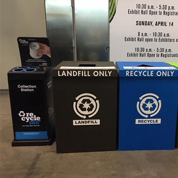 Image of RecycleMe(TM) Collection Station at the WBC