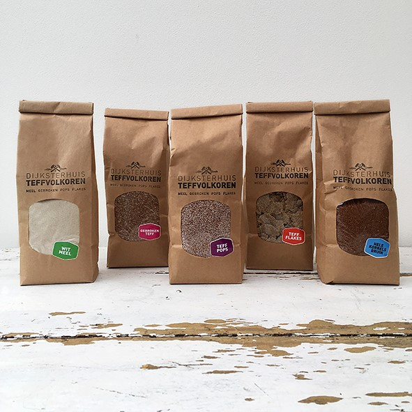 Image of TeffVolkoren paper bags with cereal inside